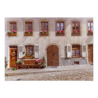 Cartão Casa na vila do Gruyère, suiça
