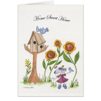 Cartão Casa nova com Birdhouse