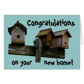 Cartão Casa nova dos parabéns