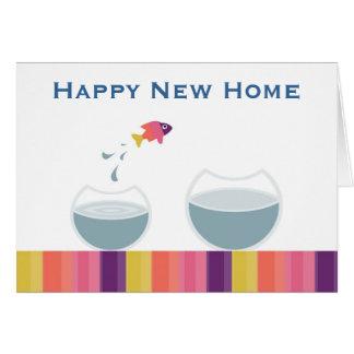 Cartão Casa nova feliz