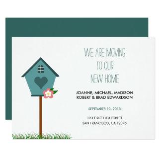 Cartão Casa nova moderna, casa, nós estamos movendo o