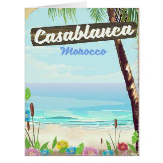 Cartão Casablanca Marrocos, poster vintage romântico