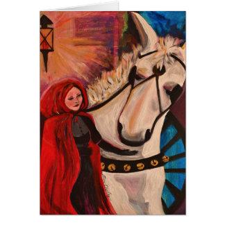 Cartão Casaco e carruagem