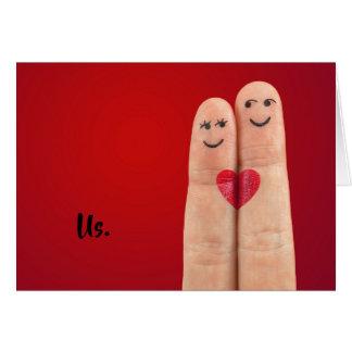 Cartão Casal abençoado You>Happy do amor de Christian>I