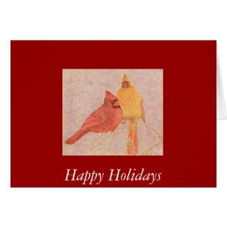 Cartão Casal cardinal