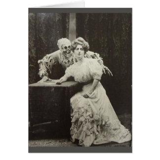 Cartão Casal do vintage - Moaner ou gritador? ,