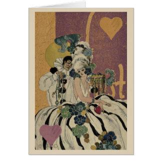 Cartão Casal dos namorados do carnaval