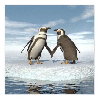 Cartão Casal dos pinguins