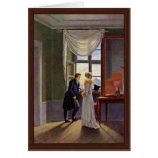 Cartão Casal na janela por Kersting Georg Friedrich