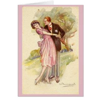 Cartão Casal que cai no amor,