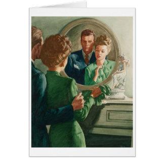 Cartão Casal retro - drama e uma dor de cabeça,