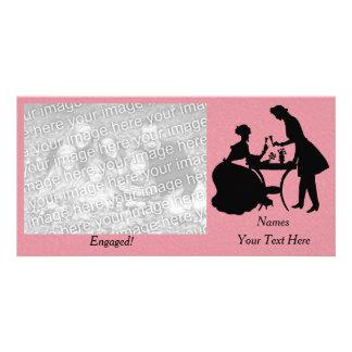 Cartão Casal romântico contratado personalizado que