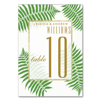 Cartão Casamento à moda elegante da samambaia