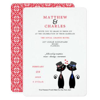 Cartão Casamento afortunado de Purrr. .fect do casamento