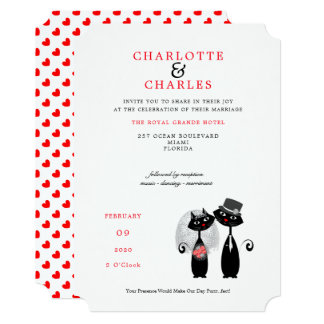 Cartão Casamento afortunado de Purrr. .fect do noivo da