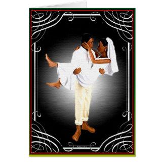 Cartão Casamento africano