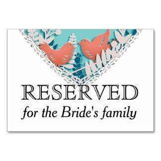 Cartão Casamento alaranjado bonito do entalhe do origami