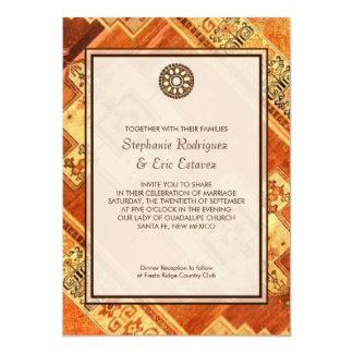 Cartão Casamento asteca da festa
