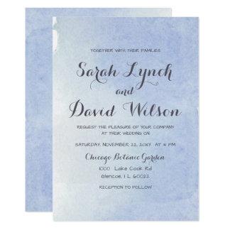 Cartão casamento azul da aguarela da serenidade