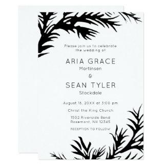 Cartão Casamento botânico