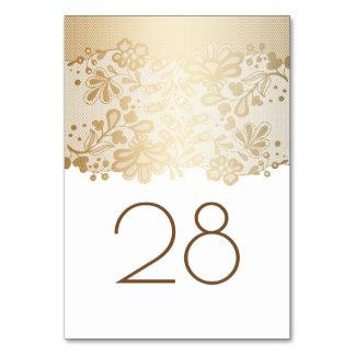 Cartão Casamento branco do laço floral do ouro