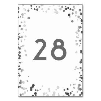 Cartão Casamento branco elegante dos confetes de prata