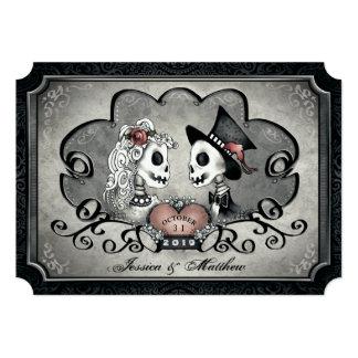 Cartão Casamento branco preto cinzento do coração dos