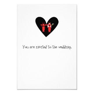 Cartão Casamento brincalhão da lagosta do divertimento