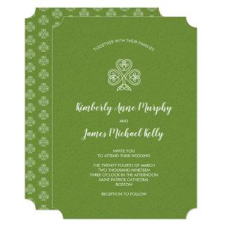 Cartão Casamento celta do trevo do nó