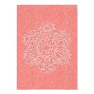 Cartão Casamento chique de Boho da mandala elegante