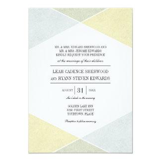Cartão Casamento chique industrial do olhar de prata do