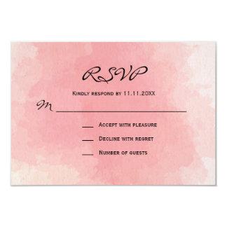 Cartão Casamento cor-de-rosa feito sob encomenda do