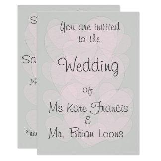 Cartão Casamento cor-de-rosa transparente rústico bonito