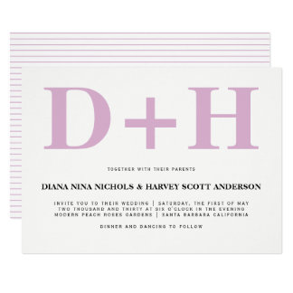 Cartão Casamento corajoso da tipografia das iniciais