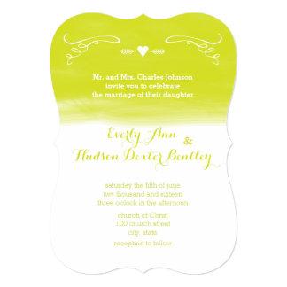Cartão Casamento cortado do quadro elementos Chartreuse