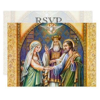 Cartão Casamento cristão católico do casamento RSVP