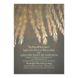 Cartão Casamento da árvore de salgueiro do efeito da