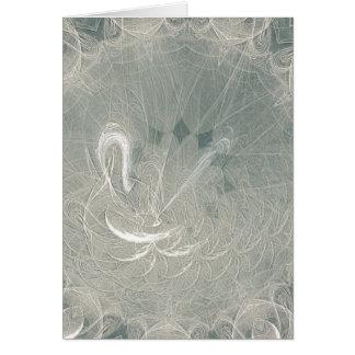Cartão Casamento da cisne da eternidade