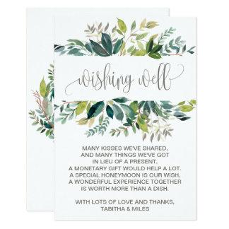 Cartão Casamento da folha que deseja bem