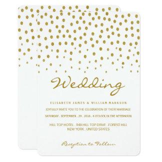 Cartão Casamento das bolinhas do ouro