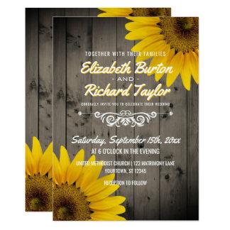 Cartão Casamento de madeira de Boho do celeiro rústico