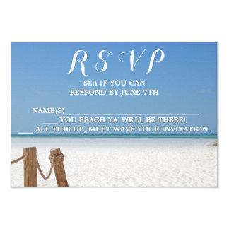 Cartão Casamento de praia RSVP