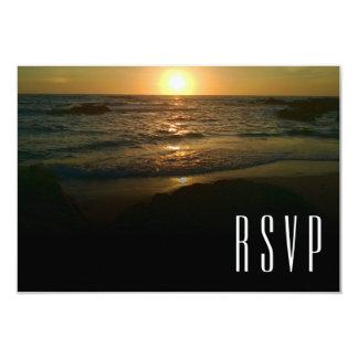 Cartão Casamento de praia RSVP do por do sol