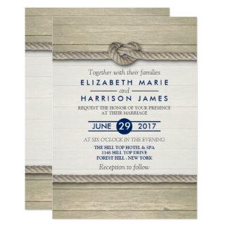 Cartão Casamento de praia rústico do casando