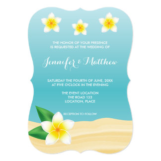 Cartão Casamento de praia tropical das flores do