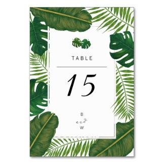 Cartão Casamento de praia tropical pintado das folhas