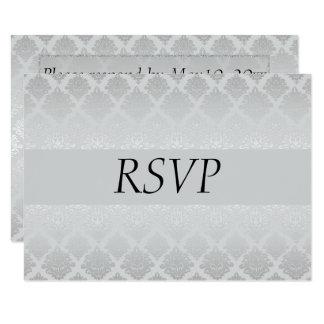 Cartão Casamento de prata RSVP