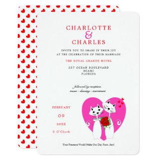 Cartão Casamento de Purrr. .fect do noivo da noiva | dos