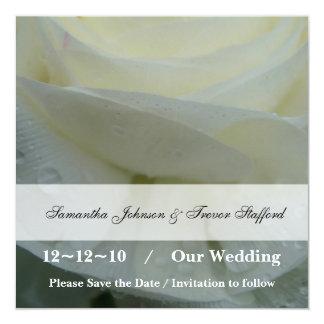 Cartão Casamento delicado do rosa branco do anjo