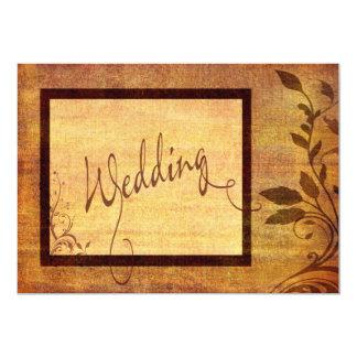 Cartão Casamento disponível romance 5 x 7 do outono morno